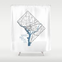 dc Shower Curtains featuring Washington, DC by linnydrez