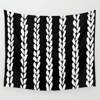 knit Wall Tapestries featuring Knit 8 by Project M