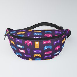 Video Games Pattern | Gaming Console Computer Play Fanny Pack
