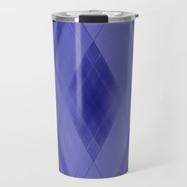 Wicker triangular strokes of intersecting sharp lines with ultramarine triangles and stripes. Travel Mug
