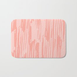 Rose Pink Stripes Bath Mat