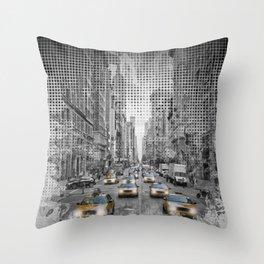 Graphic Art NEW YORK CITY 5th Avenue Traffic Throw Pillow