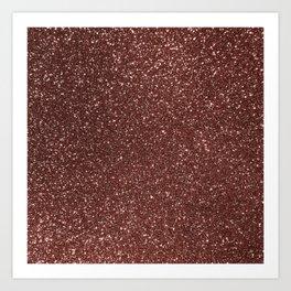 Ruby Pink Copper Glitter Art Print