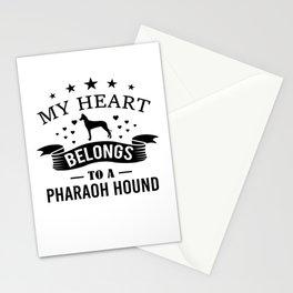 My Heart Belongs To A Pharaoh Hound bw Stationery Cards