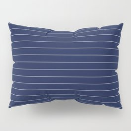 Navy Blue Pinstripe Lines Pillow Sham