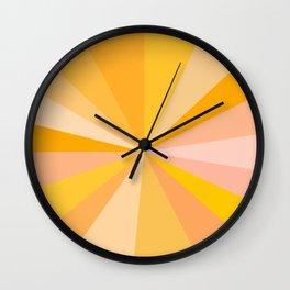 Abstraction_YELLOW_SUNLIGHT_Minimalism_001 Wall Clock