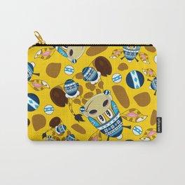 Cute Cartoon Bobble Hat Giraffe Pattern Carry-All Pouch