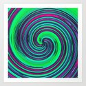 Psychedelic Retro Swirl by moonshineparadise