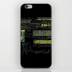 The Road Less Traveled By iPhone & iPod Skin