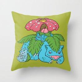 The 'Saur Family Throw Pillow
