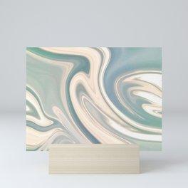 Turquoise Swirl Marble Mini Art Print