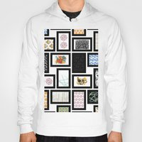 frames Hoodies featuring Wall of Frames by Natalie North