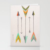 arrows Stationery Cards featuring Arrows by Hayley Lang