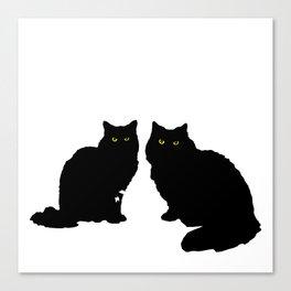 Black Pussies Canvas Print