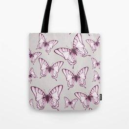 butterfly pattern in purple Tote Bag