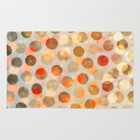 inception Area & Throw Rugs featuring GOLDEN DAYS OF SUMMER by Daisy Beatrice
