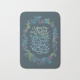 You Are My Hiding Place - Psalm 32:7 Bath Mat