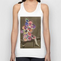 moss Tank Tops featuring Moss Smile by Naomi Vona