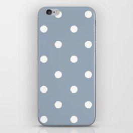 Carolina Blue Dotty iPhone Skin