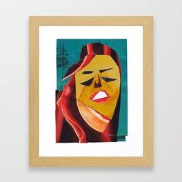 Cass Elliot #PrideMonth Collage Portrait Framed Art Print