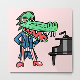 Elton Crocodile Metal Print