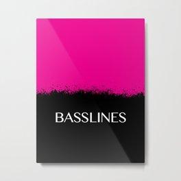 Basslines Metal Print