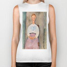 "Amedeo Modigliani ""Girl with a Polka-Dot Blouse (Jeune fille au corsage à pois)"" Biker Tank"