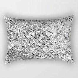 Vintage Map of Oakland California (1878) BW Rectangular Pillow