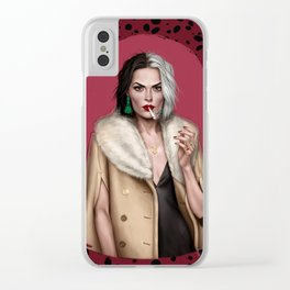 Cruella Clear iPhone Case