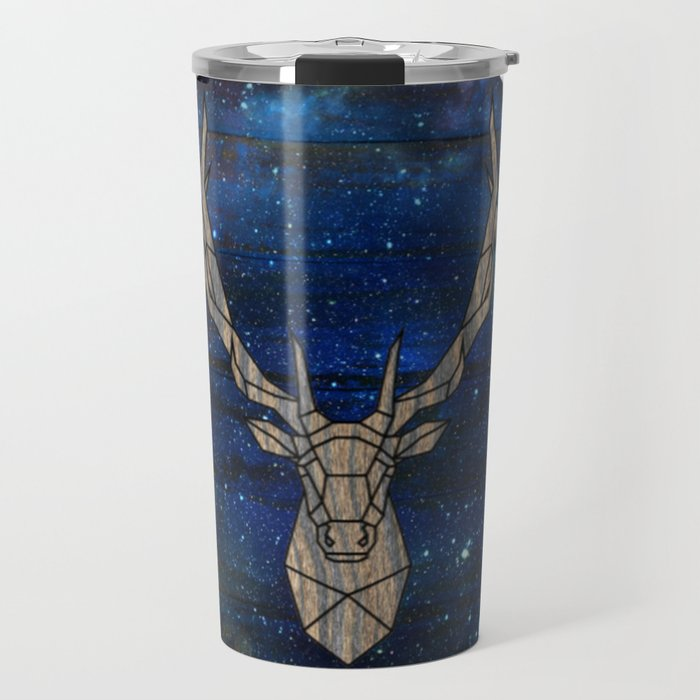 Geometric Space Elk Travel Mug