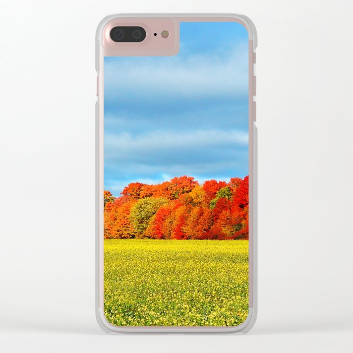 The Field and the Forest in October Clear iPhone Case