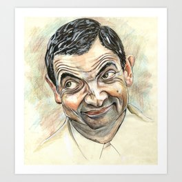 Rowan Atkinson Art Print