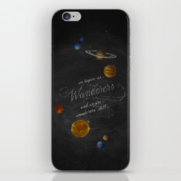 Wanderers - Carl Sagan iPhone Skin