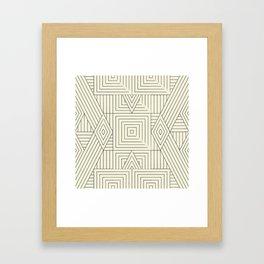 Mudcloth bege Framed Art Print
