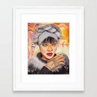 rihanna Framed Art Prints featuring RIHANNA by Share_Shop