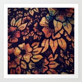 Rainbow Florals  Art Print