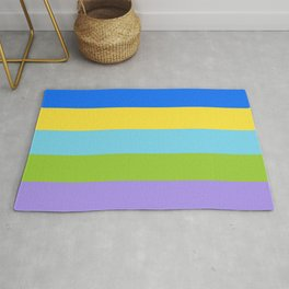 FRESH COLORFUL SCANDI PASTELL LINES Rug