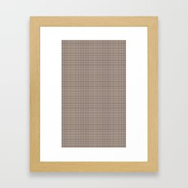 EXCLUSIVELY SERESHKI COLLECTION GREY BEIGE PLAID Framed Art Print