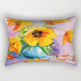 Bouquet of tulips Rectangular Pillow