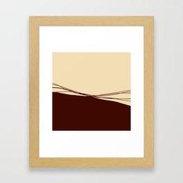 Broken Lines_Granata Framed Art Print