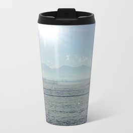 the sun meets the snow Travel Mug