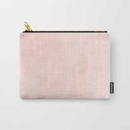 Seashell Pink Watercolor Carry-All Pouch