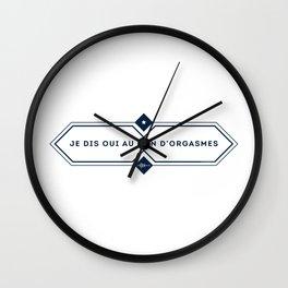 Je dis oui au don d'orgasmes - Modèle losange Wall Clock