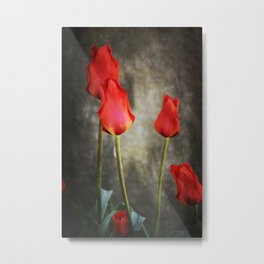 tulipes rouges Metal Print