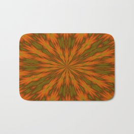 Autumnal Leaves Red Green and Amber Kaleidoscope Bath Mat
