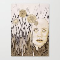anxiety Canvas Prints featuring Anxiety by Gabi Pezoa