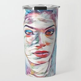 Frida Pinto (Creative Illustration Art) Travel Mug