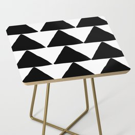 Mountains - Black and White Triangles Side Table