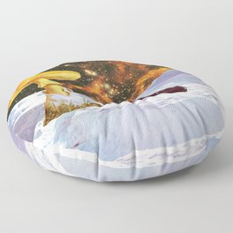 Withe Planet Floor Pillow