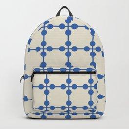 Blue Droplets Pattern Backpack
